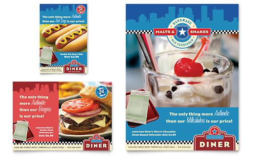American Diner Restaurant Flyer  Ad Template By Stocklayouts