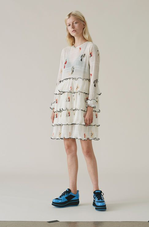 Lowell Mini Dress, Vanilla Ice   GANNI Spring Summer 2018   Pinterest    Mini dresses, Minis and Spring summer