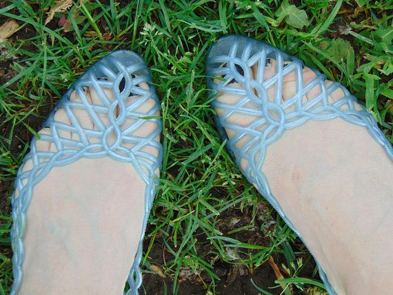 0bf4e3f6561a Jelly Shoes Jelly Sandals Shoes Size 1080s Shoes Blue