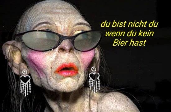 Gollum Bier Herr der Ringe lustig witzig Sprüche Bild ...