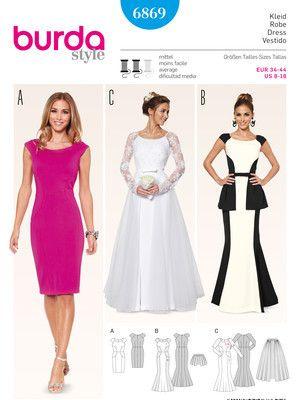 Festliches kleid damen schnittmuster