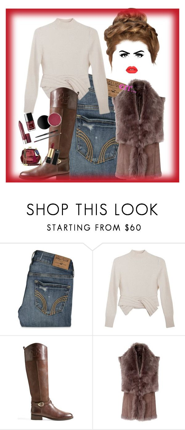 """Err"" by bren-johnson ❤ liked on Polyvore featuring Hollister Co., Maryam Nassir Zadeh, Tory Burch, L.K.Bennett and Lime Crime"