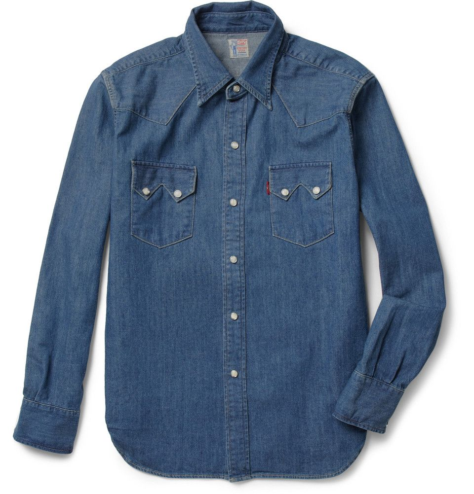 df440e6c4a Levi s Vintage Clothing 1955 Sawtooth Washed-Denim Shirt