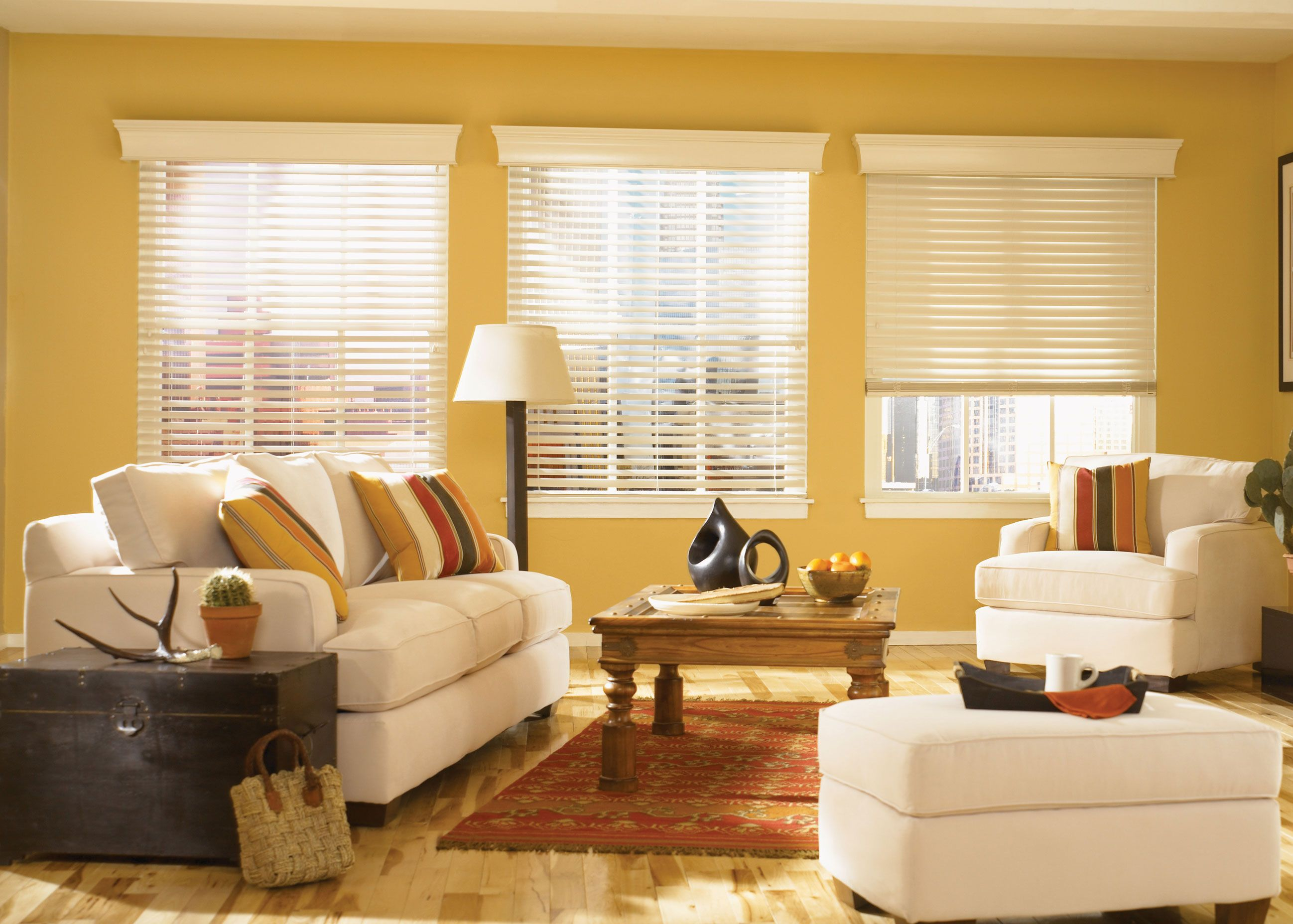 Decorating Interesting Faux Wood Blinds in Vertical or Horizontal of ...