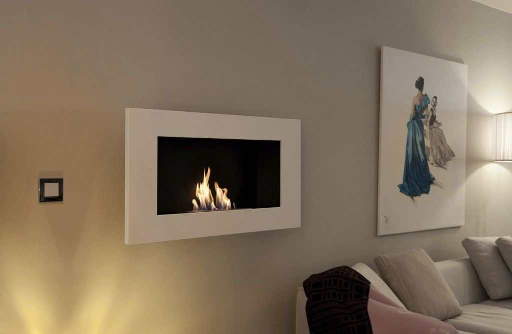 wall mounted fireplace for use with biofuels - gel fuel fireplace