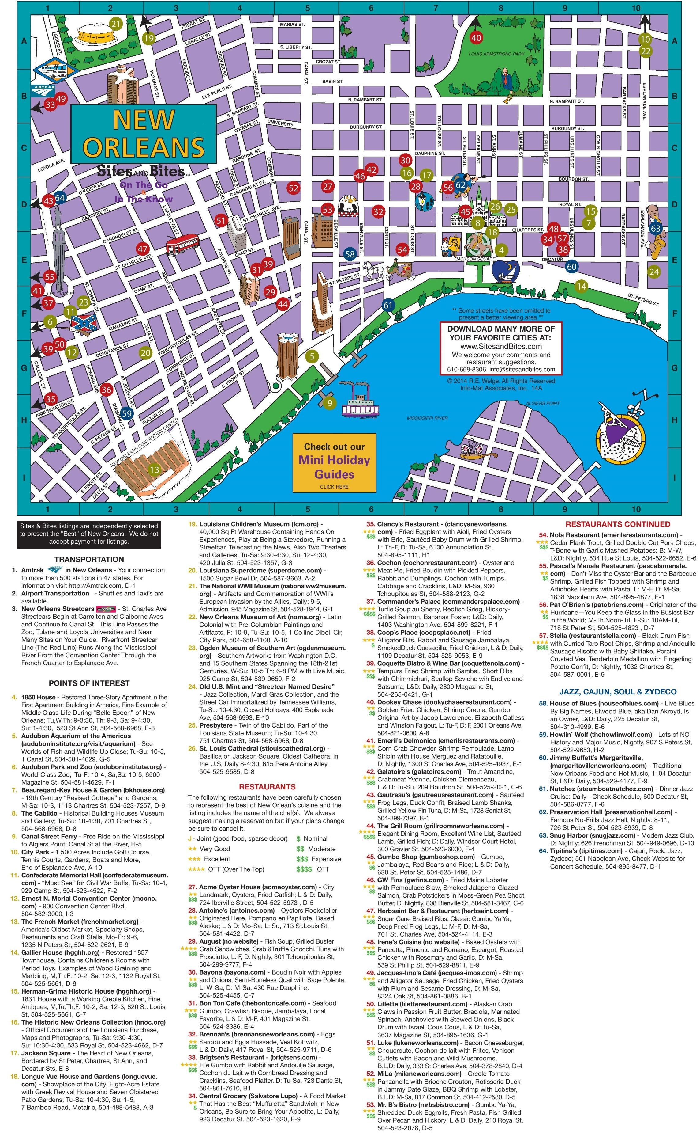 new orleans attractions map New Orleans Tourist Attractions Map Jpg 2 287 3 697 Pixels New new orleans attractions map