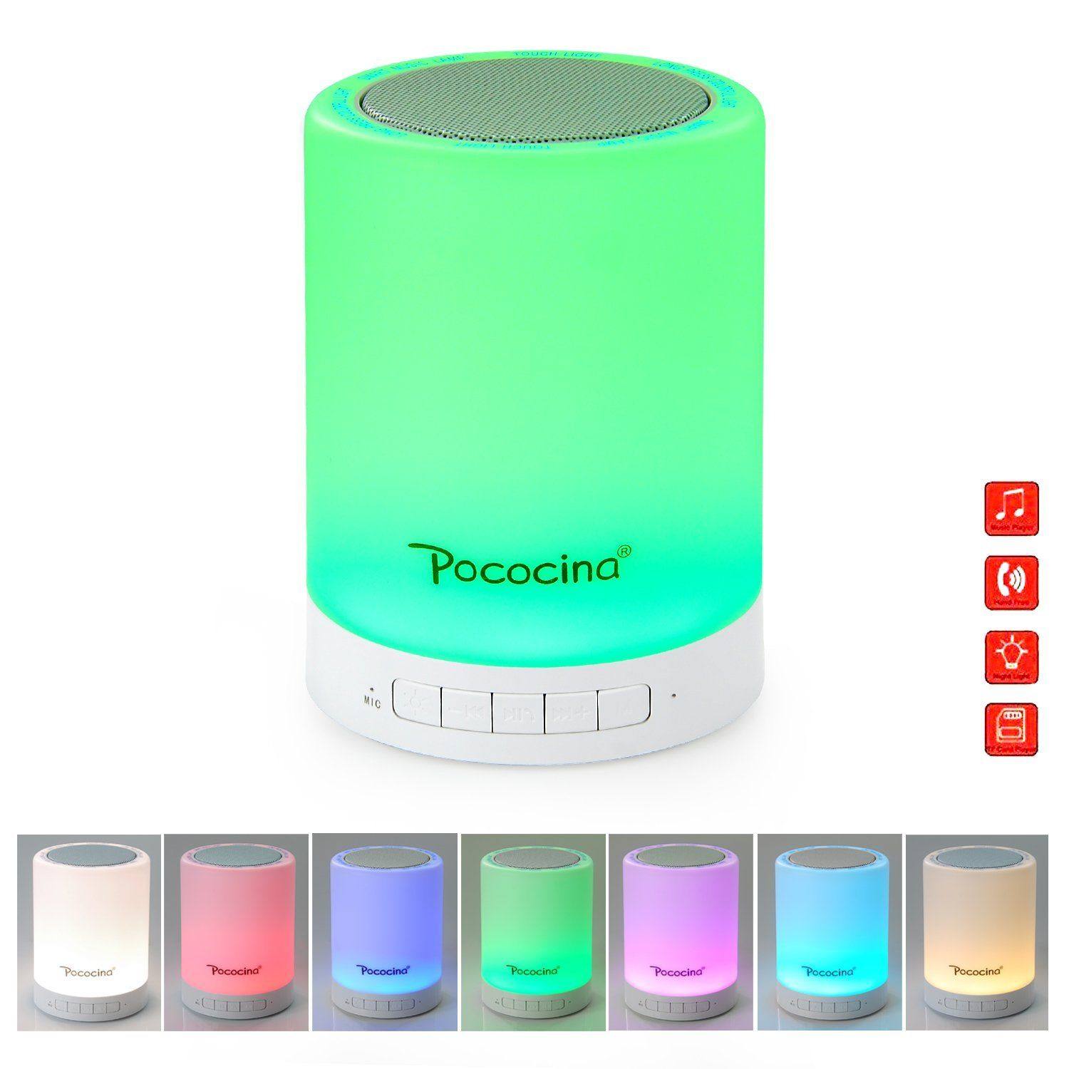 Pococina smart touch sensor bedside lamp and dimmable warm white pococina smart touch sensor bedside lamp and dimmable warm white led children table lamp with color geotapseo Images