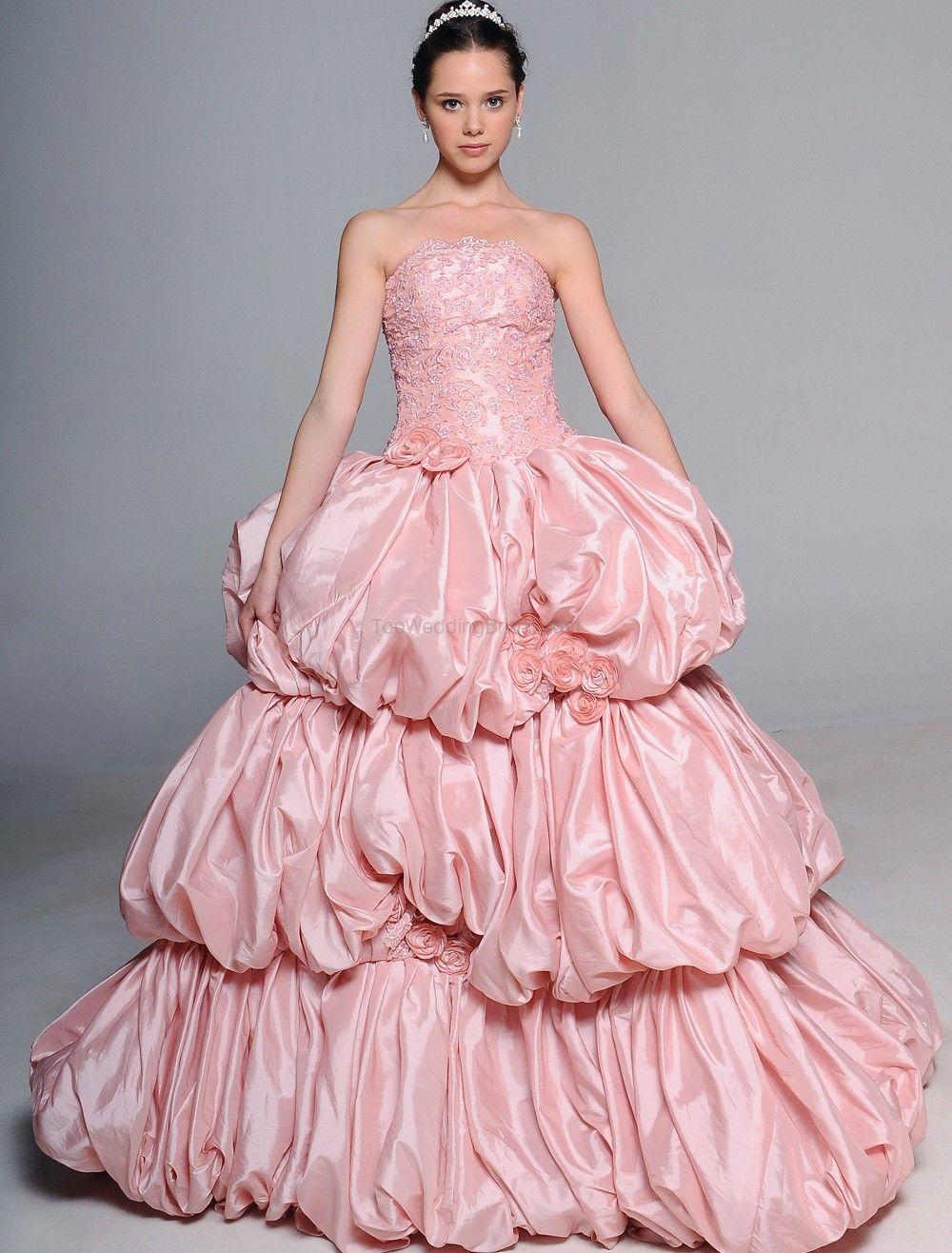pink wedding gowns 2012 | encajes romanticos | Pinterest | Encaje ...