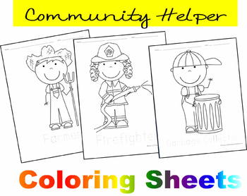 There Are 11 Black White Illustration Your Student Can Color And Trace The Occupation Word These Are Perfect For Pre Community Helper Preschool Kindergarten