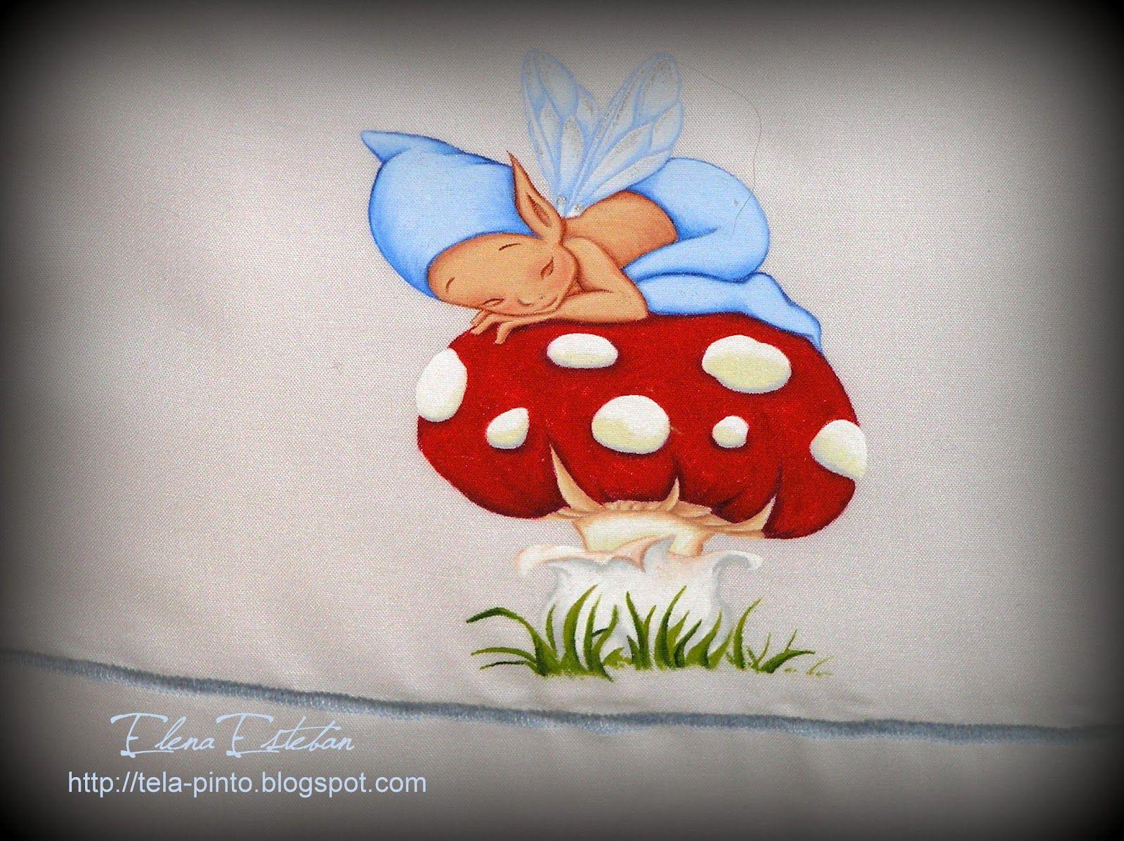 Todo color pintando duendes bbs pintura tela - Cuna duende micuna ...