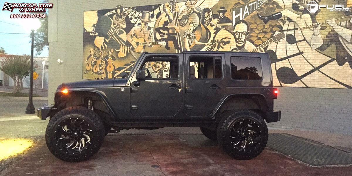 Jeep Wrangler Fuel Cleaver D239 22x14 Gloss Black Milled Wheels And Rims Jeep Wrangler Black Jeep Black Jeep Wrangler
