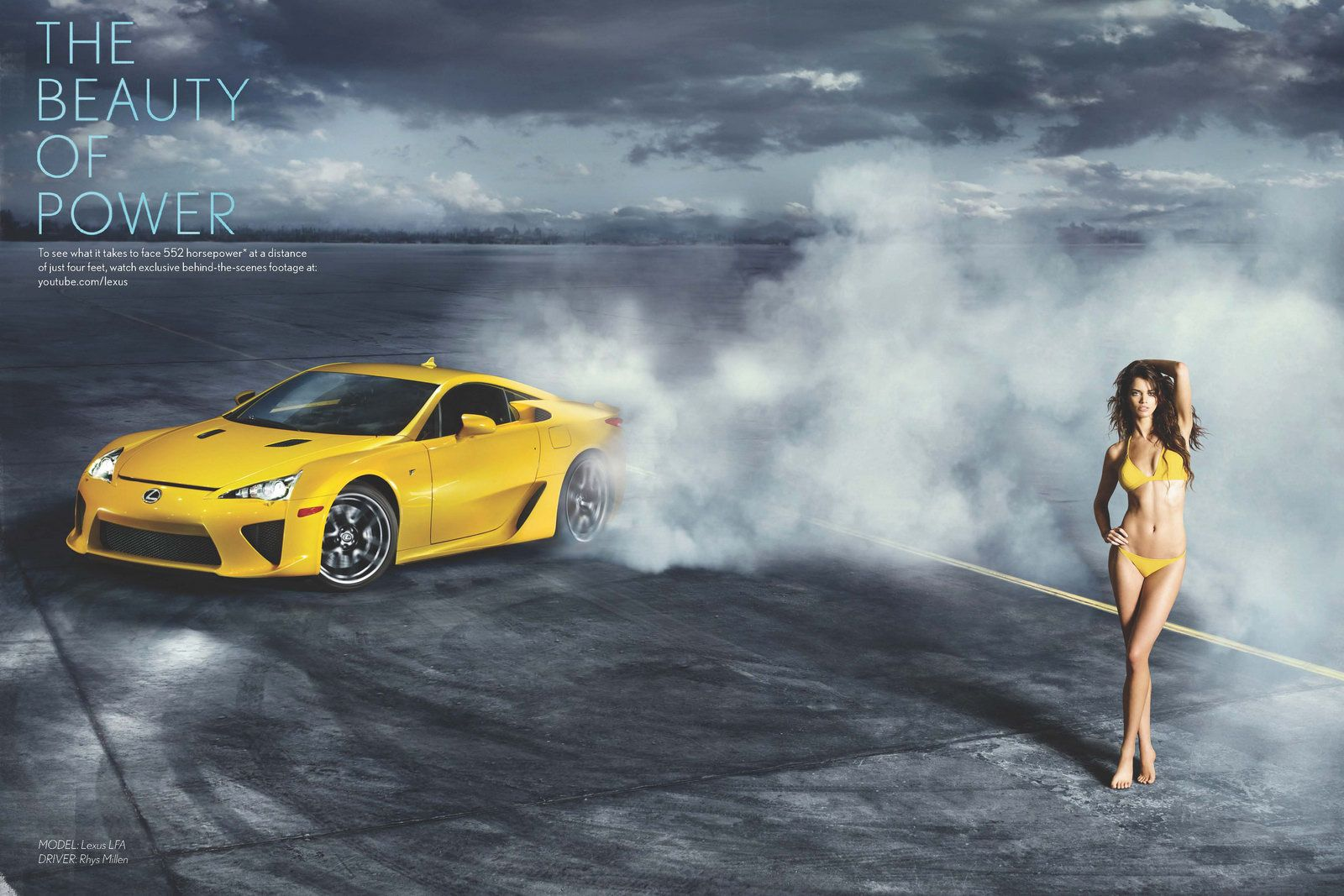 Lexus LFA Meets Hot Dutch Supermodel