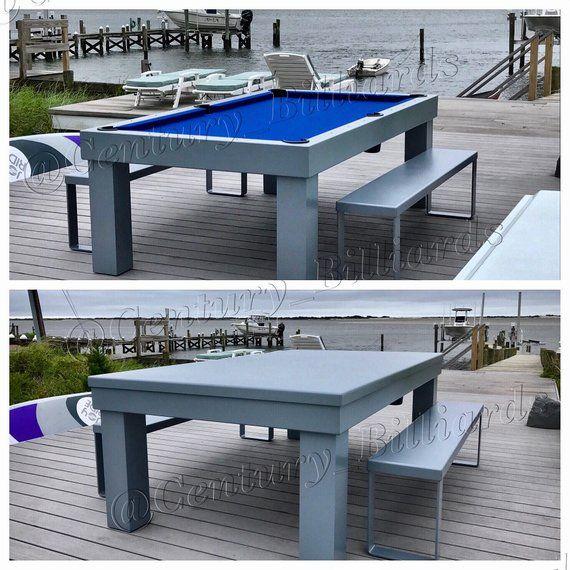 Metropolitan Outdoor Pool Table Etsy Outdoor Pool Table Pool Table Dining Table Pool Table Room