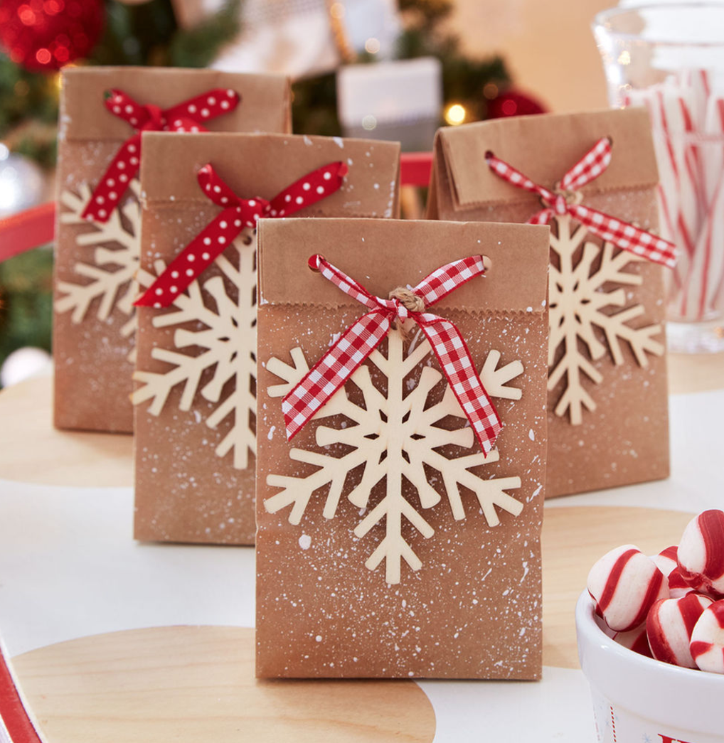 Diy Christmas Treat Bags Favor Bags Or Advent Calendar