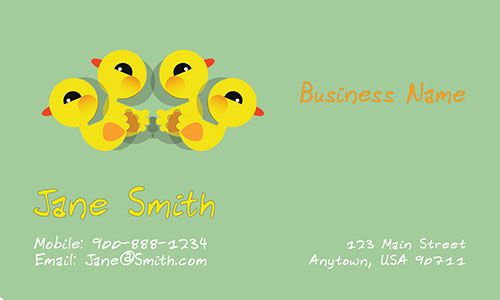 Child care business cards printifycards businesscards most adorable babysitting education child care business cards kindergarten preschool free templates will cheaphphosting Gallery