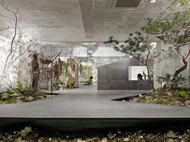Büro Einrichtung –Präsentationsbereich im minimalistischen Stil ...