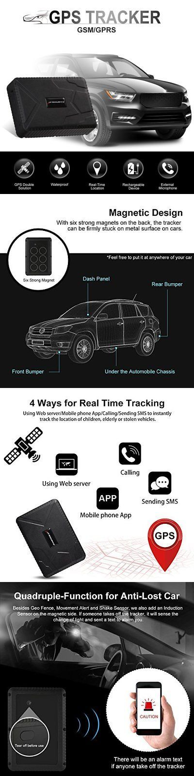 tracking devices gps tracker waterproof 120 days gsm gprs real time