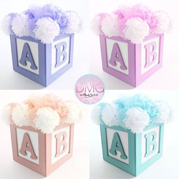 Abc Baby Block Centerpiece 8 Quot X8 Quot Great For Baby Shower Or Birthdays Custom Colors T Baby Blocks Baby Shower Abc Baby Shower Baby Shower Decorations
