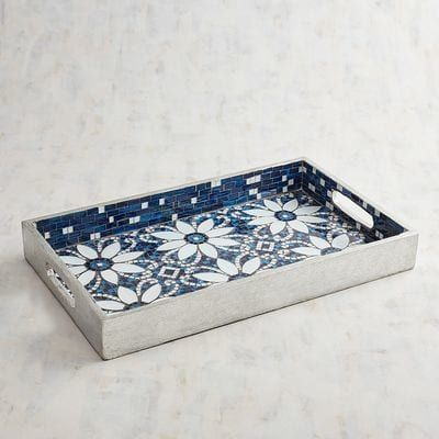 Fine Flowers Mosaic Tray Pier 1 Imports Mosaic Tray Serving Machost Co Dining Chair Design Ideas Machostcouk