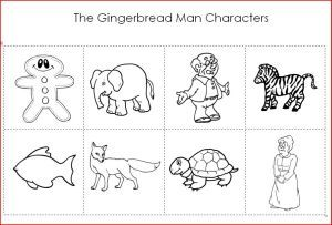 image regarding Printable Characters identified as Gingerbread Person Figures Printable Pediatric Cure