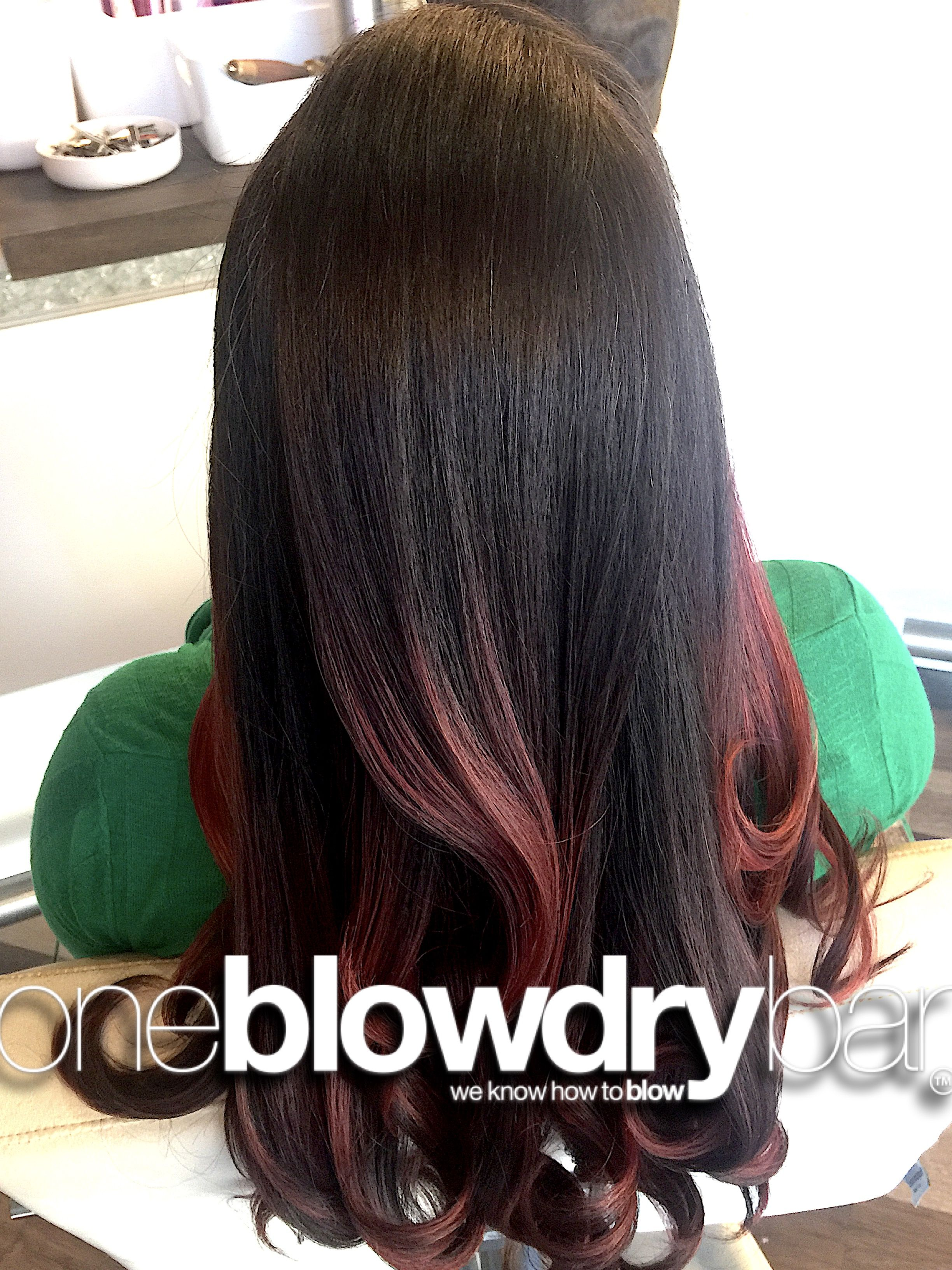 Customer blow dry blowout hair styling from the popular blowdry