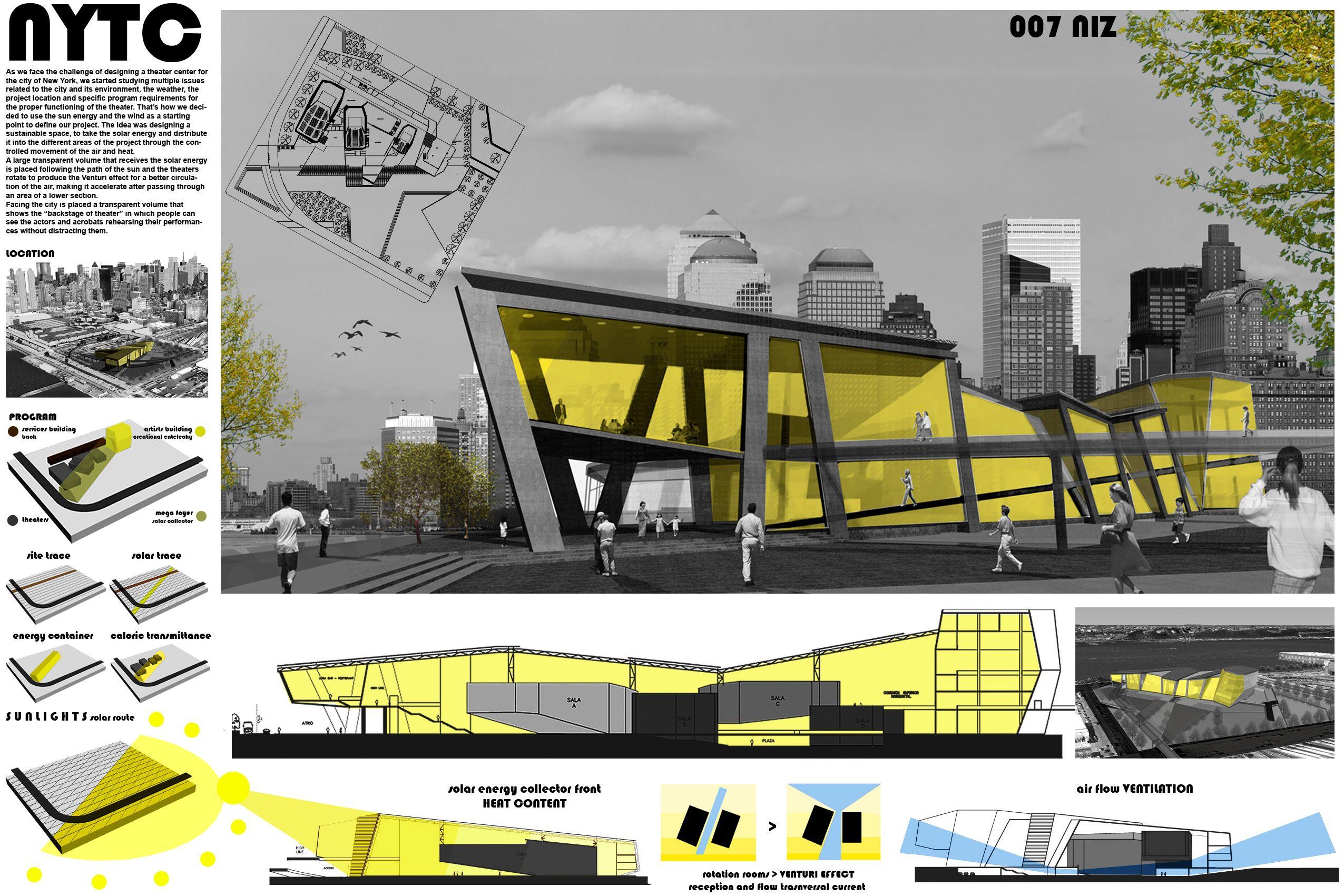 Prancha concurso nas cores escala tonal pesquisa google for Laminas arquitectura