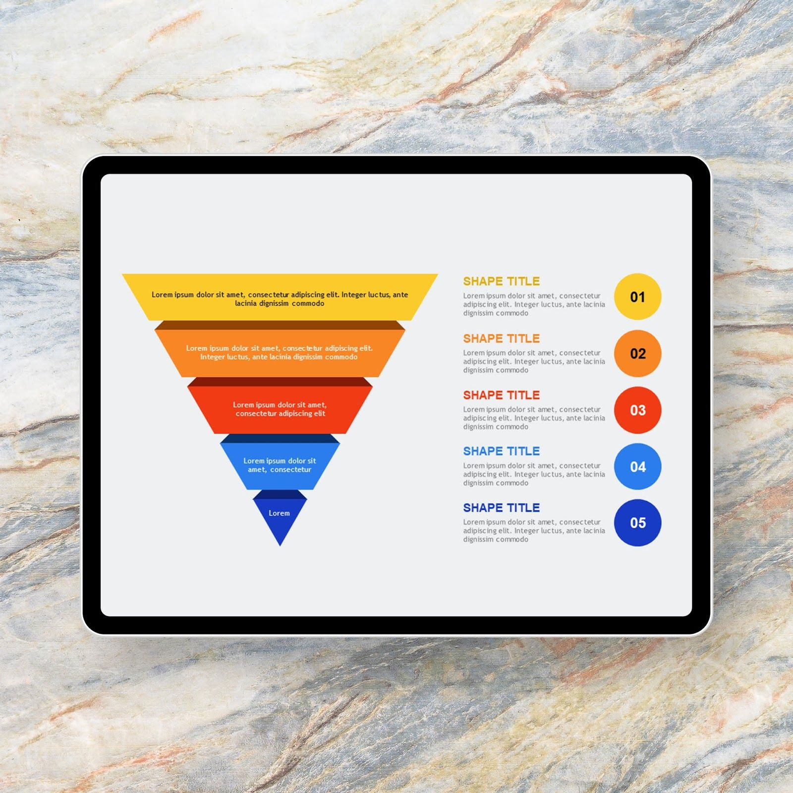 Inverted Pyramid Divide Powerpoint Templates 이미지 포함 템플릿