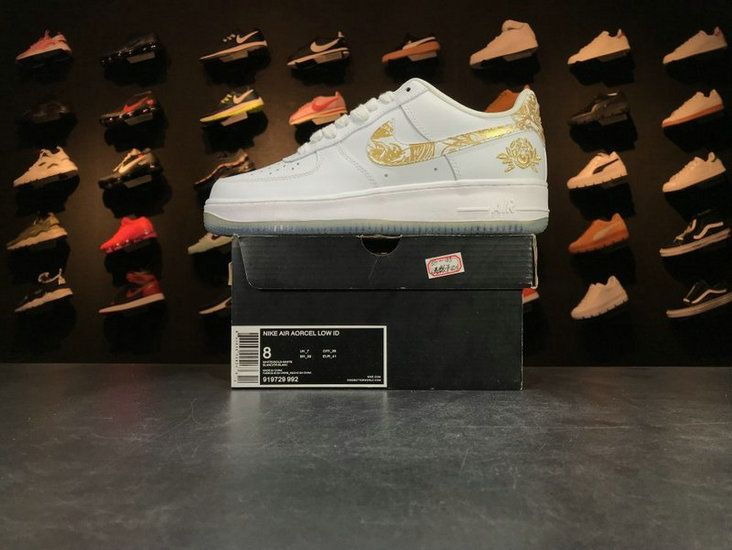871a3de580ab Nike Air Force 1 Low Premium Lunar New Year iD White Gold 919729 992 Casual  Shoes