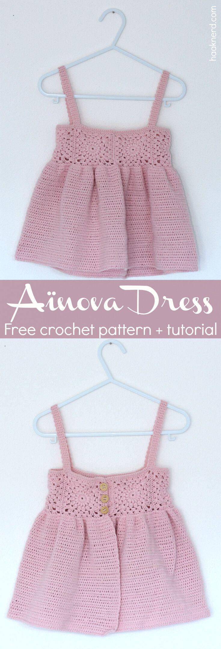 Aïnova Dress   Pinterest   Häckeln, Häkeln baby und Häkeln