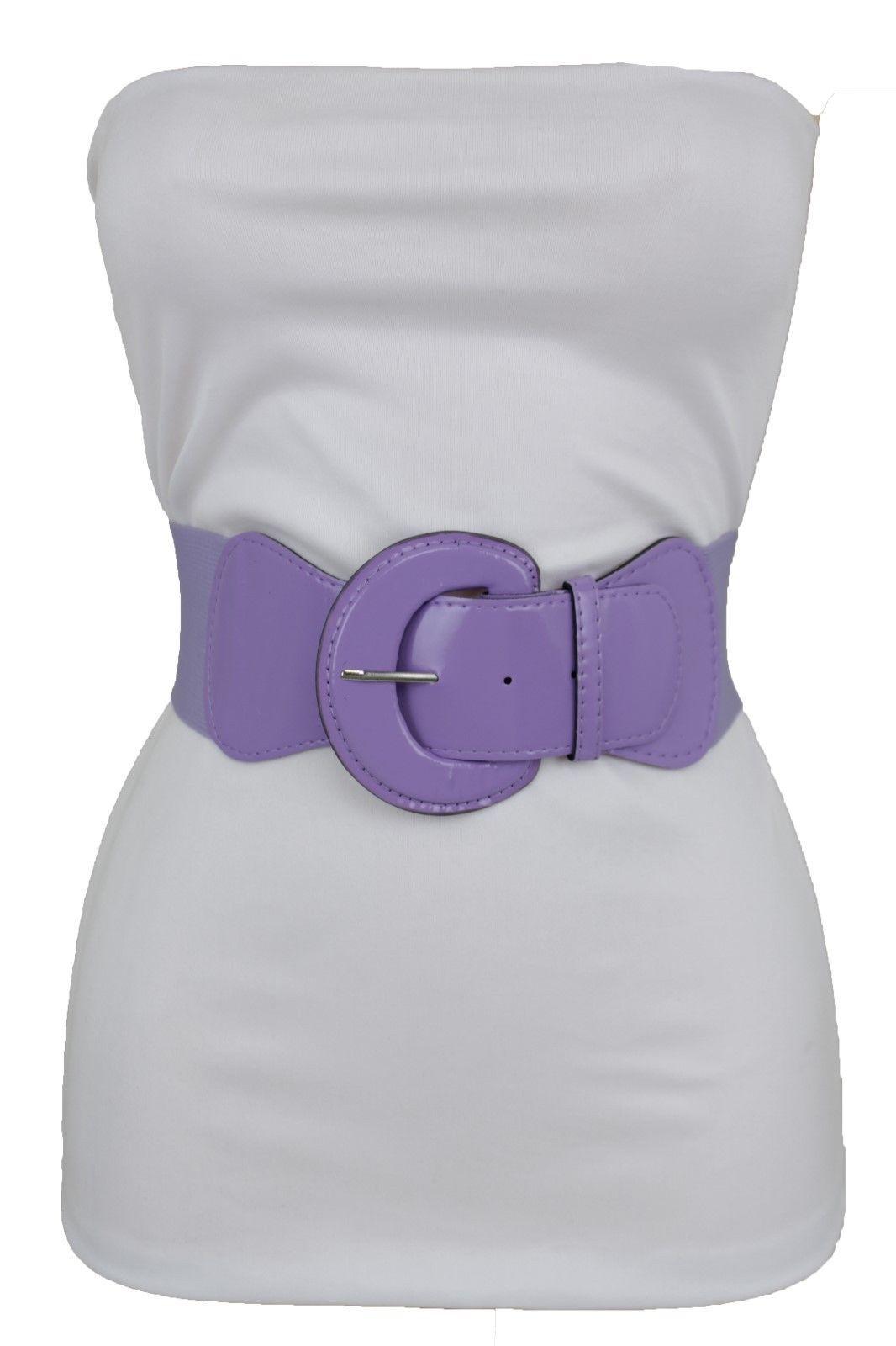 a4e79227d $11.99 - Women Light Purple Lavender Elastic Waistband Fashion Belt Hip  High Waist M L Xl #