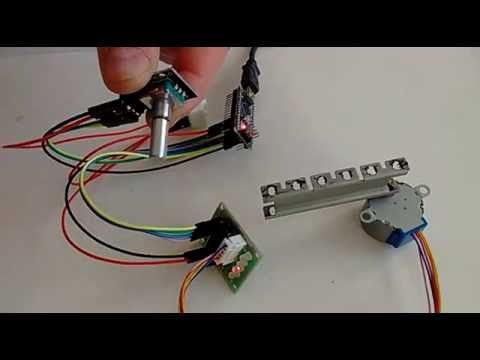 Arduino nano and visuino control stepper motor with for Stepper motor position control