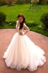 Lace ball gown wedding dress Fabiana with from JulijaBridalFashion - Yoga & Fitness ...#ball #dress...
