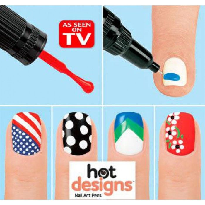 Nail Art Pen Our Nail Art Pen keeps your manicure in top shape. Like French manicure. In minutes, you can get it. Just open the pen and apply the tip on your nail. Opt for the classy designs and perk them up with a trendy color combo. In this pack, each color has its own nail brush to brush on the base color and then  pop the top for a unique nail pen that helps you apply new designs. With the help of design books or websites, you decorate your nails with stunning designs.