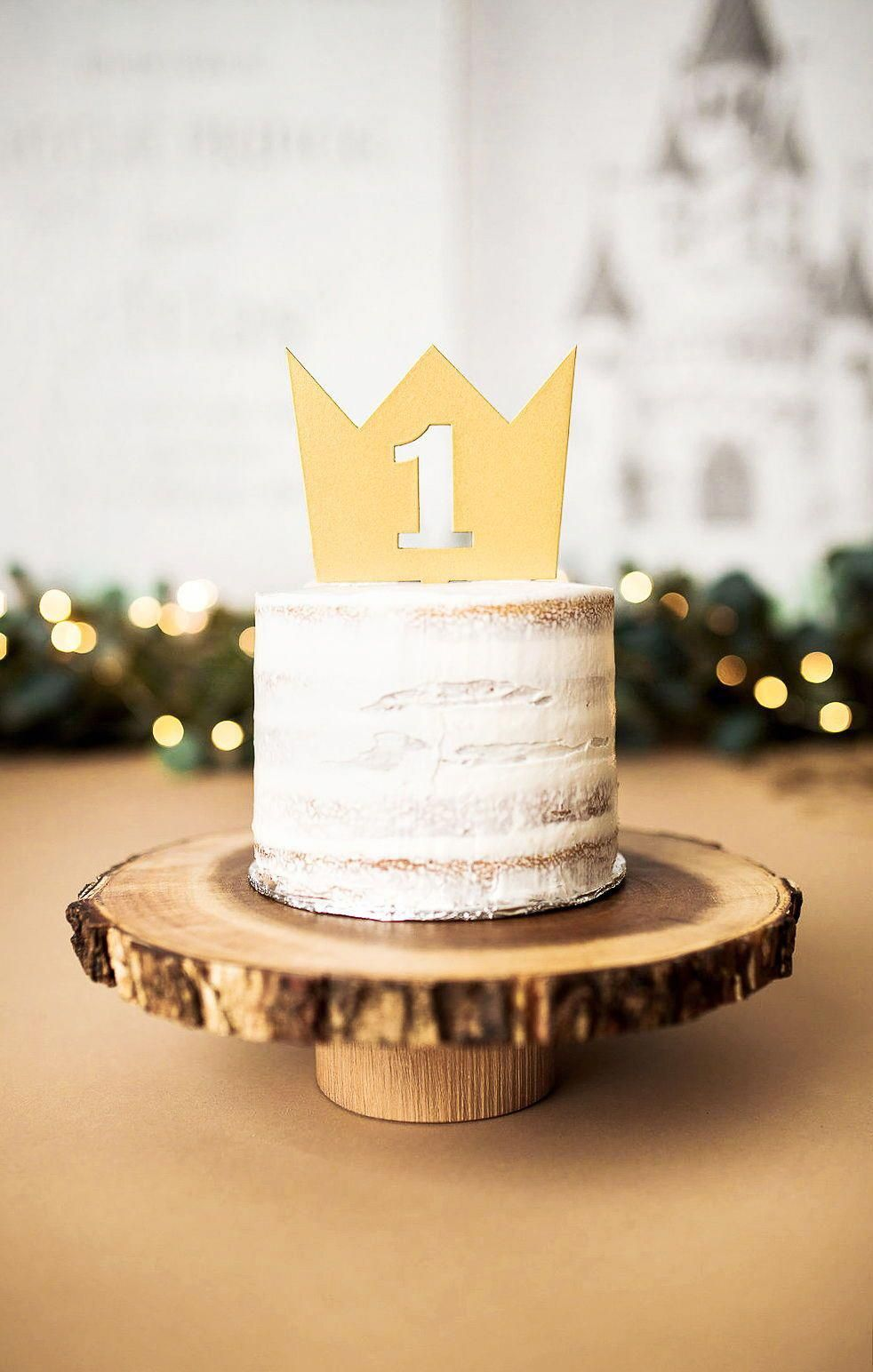 Crown Cake Topper First Birthday Cake Smash Photos or
