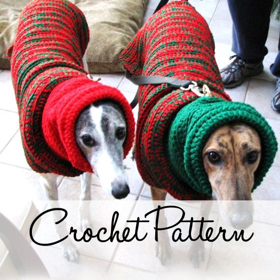 Instant Download - PDF Crochet Pattern for Greyhound Sweater and ...