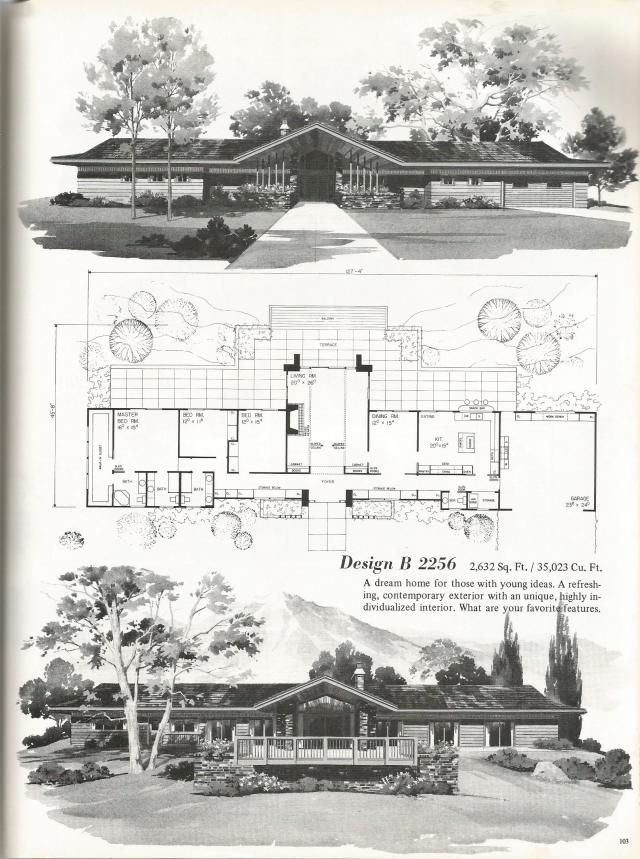 Vintage House Plans Luxurious Palatial Homes Vintage House Plans Mid Century Modern House Plans House Plans