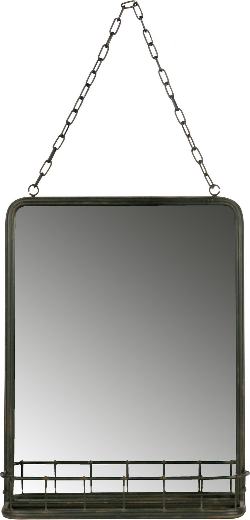 Spiegel Met Planchet.Bepurehome Speak Hangende Spiegel Met Planchet Metaal Zwart Am