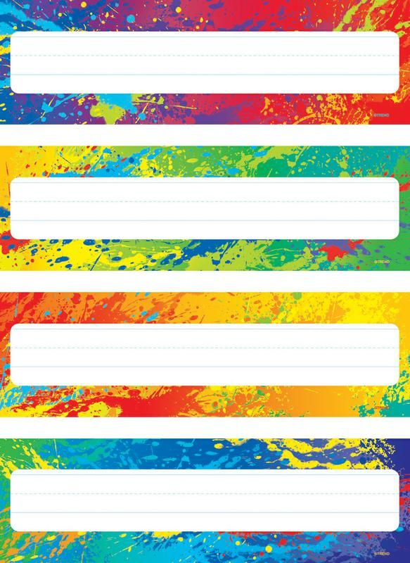 Splashy Colors Desk Toppers 174 Name Plates Variety Pack