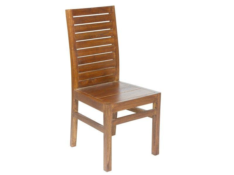Silla de madera de mindi para salón-comedor Ohio | Sillas de comedor ...