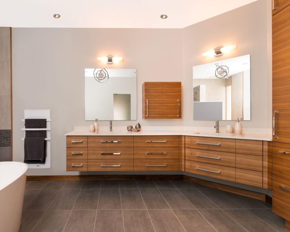 Salle de bain contemporaine en bois Salle de bain Pinterest