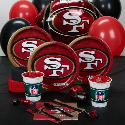 best sneakers f07e8 eb2c6 San Francisco 49ers Party Kit for 16 | Kiddos | Football ...
