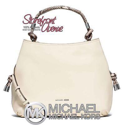 NWT Michael Kors ISABEL Large Convertible Shoulder Bag ECRU PYTHON/SILVER $428 https://t.co/s0mOzLbM1m https://t.co/1smTabZnIH