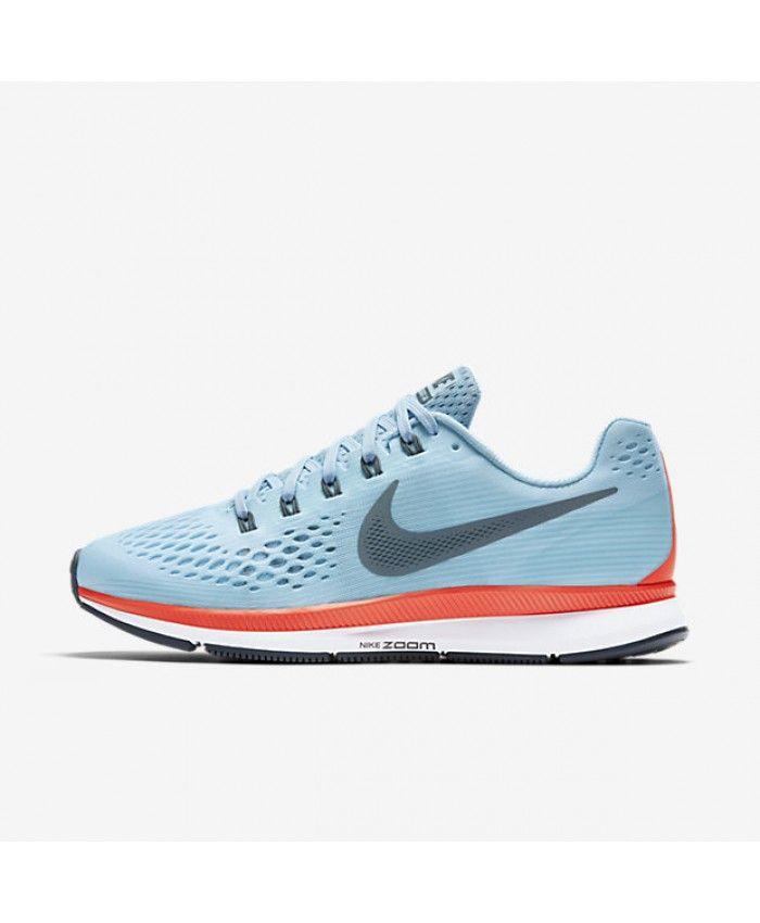 8695dc0fa91d0 Nike Air Zoom Pegasus 34 Ice Blue Bright Crimson White Blue Fox 880555-404