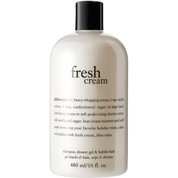 Philosophy Fresh Cream Shampoo Shower Gel Bubble Bath 18 Liked On