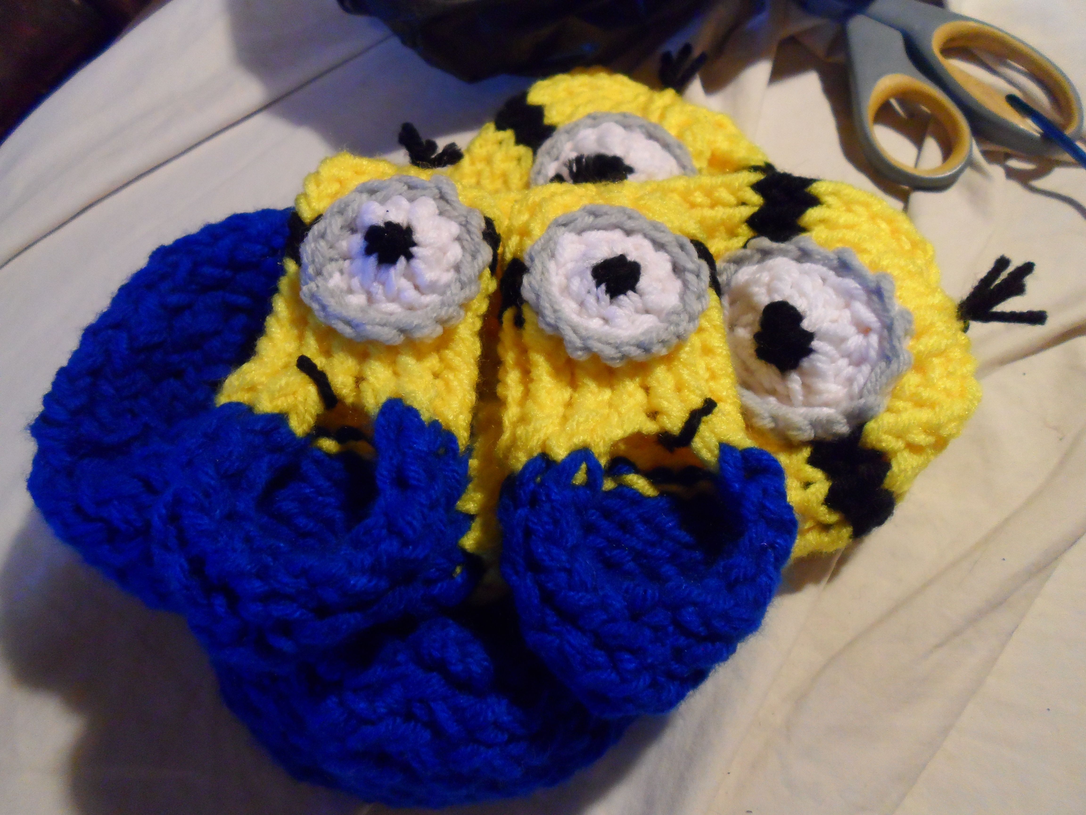 Knitted Minion Slippers Choice Image - handicraft ideas home decorating