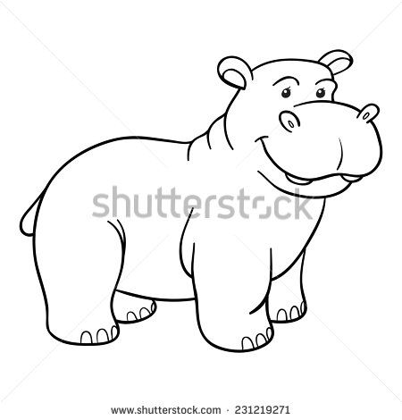 Cute Hippo Coloring Pages Google Search Cute Hippo Coloring Pages School Themes