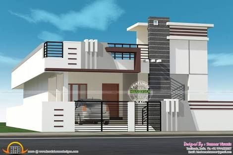Image Result For Small House With Car Parking Construction Elevation Kerala House Design House Design Photos Duplex House Design