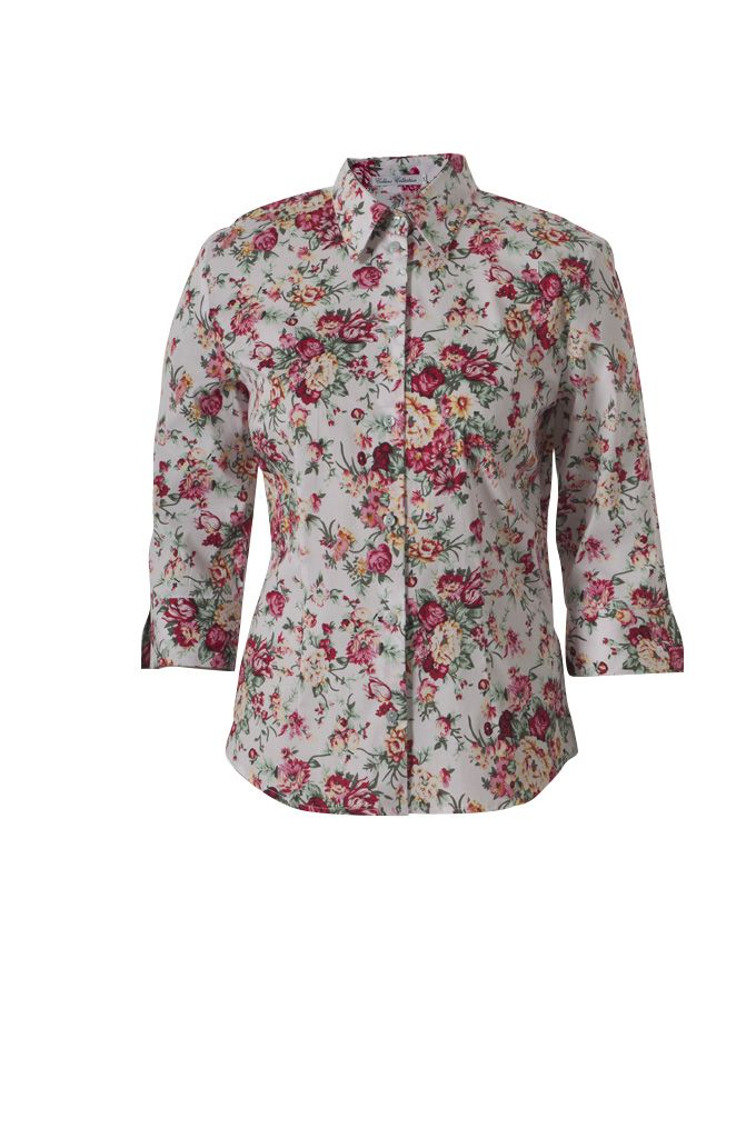 Fitted floral blouse