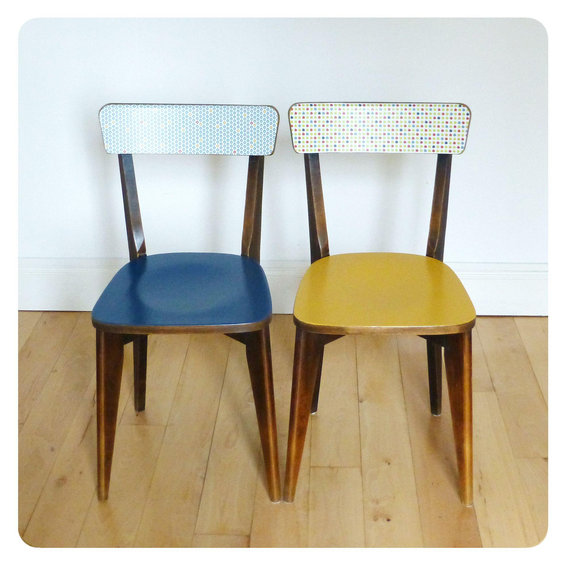 Paire de chaises bistrot vintage retro ann es 50 - Table et chaises bistrot ...