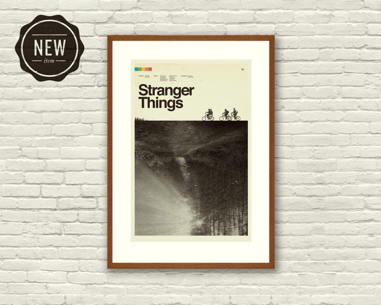 STRANGER THINGS Inspired Art Print Movie Poster - 12 x 18 Minimalist ...